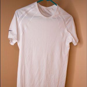 White Woman's Nike dri-fit shirt